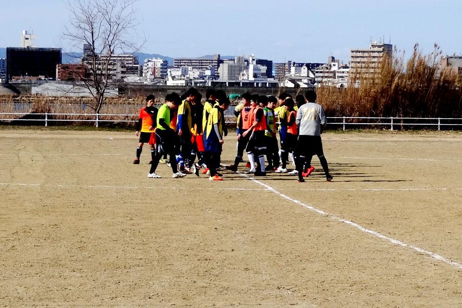 2018.02.18第1試合86thリーグFCカルチョ-FC Noel/大阪府内サッカー場